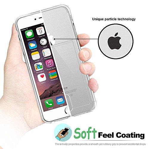 Coque iPhone 7 Plus : Fogeek Housse Etui TPU Clair Transparente Ultra Mince Premium transparent / une Adhérence exacte / Sans Encombrement Douce Avec des Cartes de Crédit Slot Case pour iPhone 7 Plus