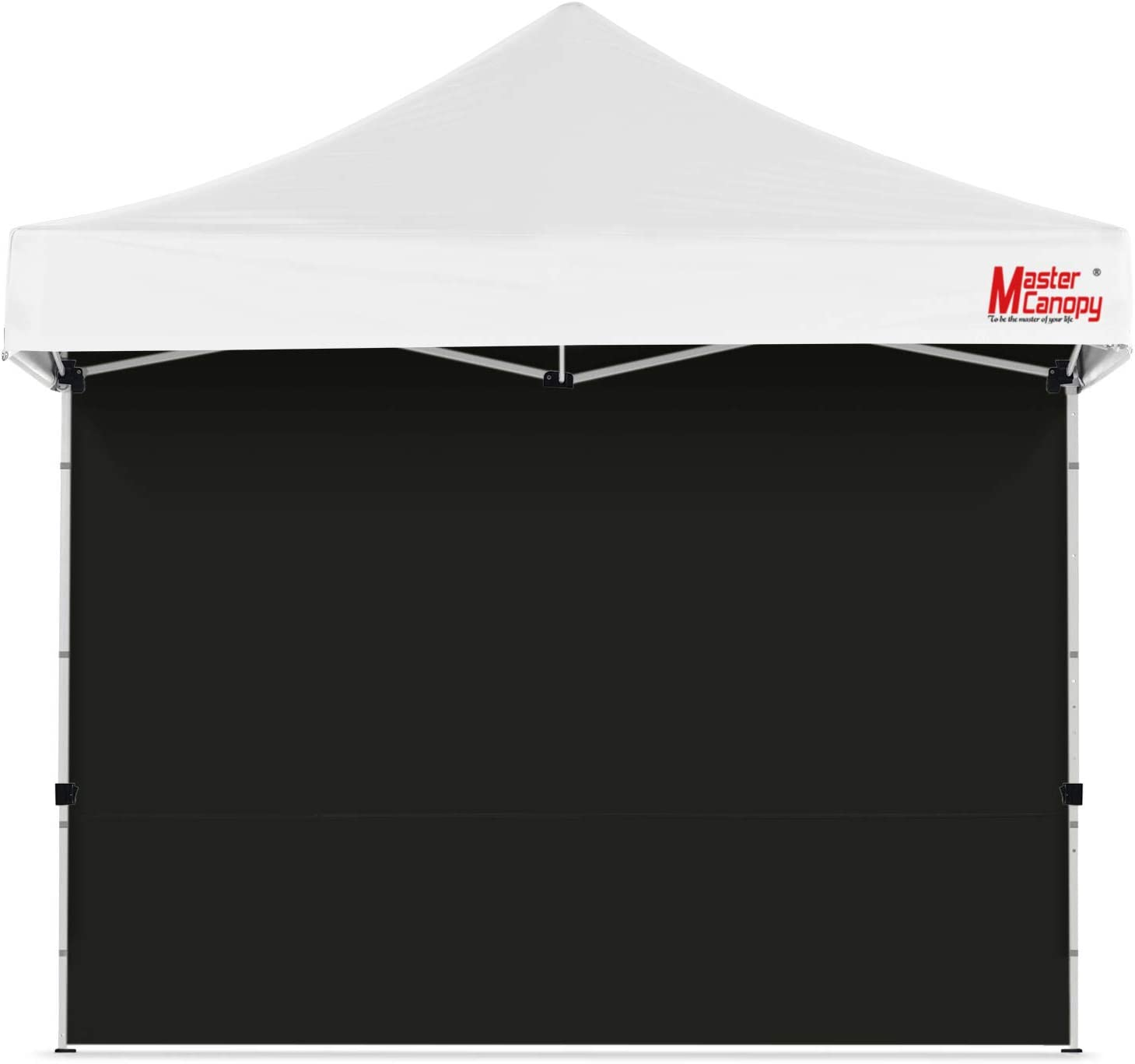 MASTERCANOPY Instant Canopy Tent Sidewall for 10x10 Pop Up Canopy, 1 Pack (10'x10', Black)