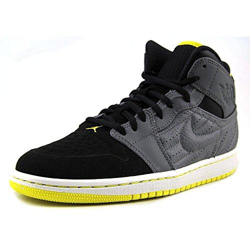 Nike Jordan Men's Air Jordan 1 Retro '99 Cool Grey/Vbrnt Yllw/Blk/White Basketball Shoe 13 Men US (Air Jordan 1 Cool Grey)