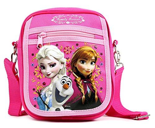 Price comparison product image GoodyPlus Disney Frozen Elsa and Anna Detachable Lanyard Messenger Shoulder Bag, Pink, Medium