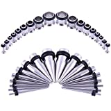 Bodystars Ear Gauges Stretching Kit - 36Pcs
