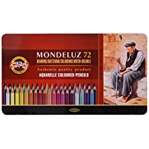 KOH-I-NOOR Mondeluz Aquarell Coloured Pencils (Set of 72)