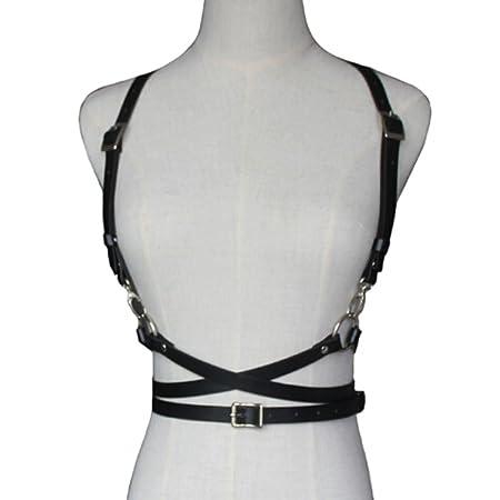 """Képtalálat a következőre: """"Yinew Womens Sexy Body Harness Leather Harness Adjustable Buckles Waist belts Girl,Black"""""""