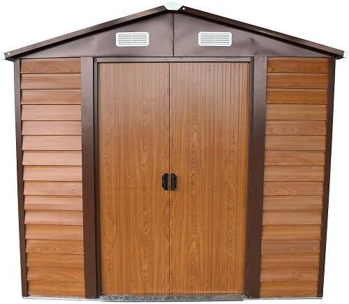 ITALFROM Box Casa Casitas rimessa ripostiglio Garaje Coche para jardín Chapa galvanizada – Tamaño Cm 236 x 195 x 209h: Amazon.es: Hogar