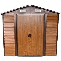 Caseta de jardín de chapa galvanizada,152x193x203cm
