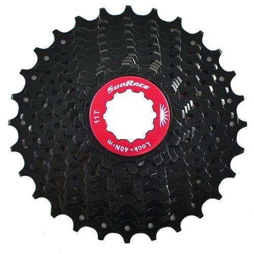 SunRace CSRX1 11 Speed Road Bike Cassette 11-28T, Black #ST1565