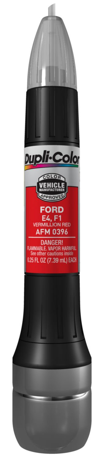 Dupli-Color AFM0396-12PK Vermillion Red Ford Exact-Match Scratch Fix All-in-1 Touch-Up Paint - 0.5 oz, (Pack of 12) by Dupli-Color (Image #1)