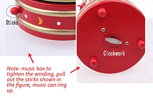 Christmas Decorations Christmas Tree Wooden Rotating Music Box Desktop Decoration Christmas Gifts (white) by HorBous (Image #3)