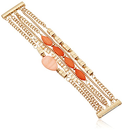 Kenneth Cole Ladies Bracelet - Kenneth Cole New York Coral Canyon Mixed Shell and Bead Multi-Row Bracelet