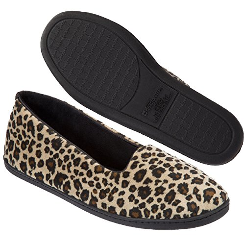 Print Slippers Microfiber Dearfoams Leopard Closed Velour Women's Leopard Back zR1wxE0