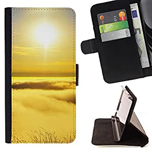 BullDog Case - FOR/Sony Xperia m55w Z3 Compact Mini / - / Peak sunset /- Monedero de cuero de la PU Llevar cubierta de la caja con el ID Credit Card Slots Flip funda de cuer