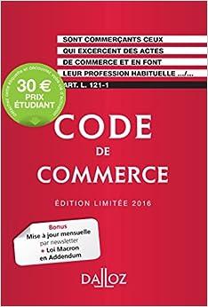 Code de commerce 2016. Édition limitée - 111e éd.