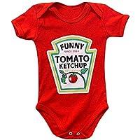 Body Infantil Ketchup - Body Bebe Divertido Menino Menina