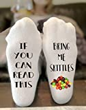 If You Can Read This Bring Me Skittles Novelty Funky Crew Socks Men Women Christmas Gifts Cotton Slipper Socks