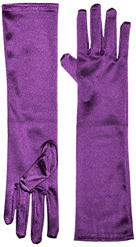 [Marvoll Lycra Spandex Elbow Length Gloves (One Size, Purple)] (Ant Man Costume Gloves)