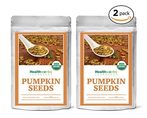 Healthworks Pumpkin Seeds Shelled Organic, 4lb (2 2lb Packs) -