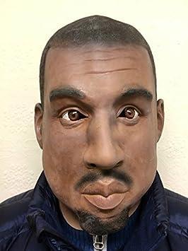 Kanye Máscara Negro Hombre rapero Rap ESTRELLA CELEBRITY Disfraz ...
