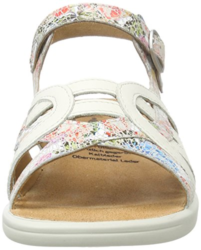 Ganter Ladies Sandali Multicolore (rosa / Bianco)