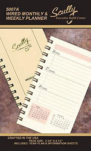(Scully Mini Wire Bound Weekly Refill 2019)