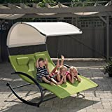 Eclipse Collection Double Chaise Rocker (Green Apple)