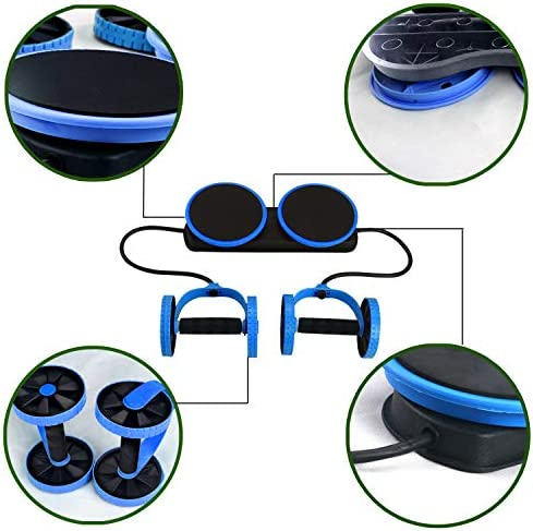 KAZOLEN Upgrade Ab Roller Wheel Multi-Functional Home Exercise Equipment Core Ab Workout Abdominal Wheel Machine Abs Exercise Fitness Trainer Ab Roller Home Gym Equipment… 8
