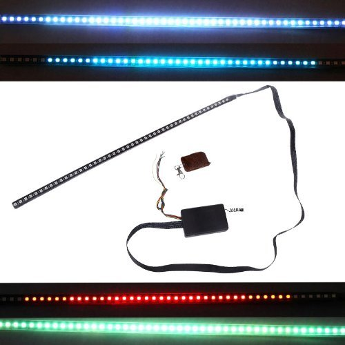 Docooler® High-brightness Knight Rider Lights Lighting Bar 5050 SMD 48 LED 7 Colors 130 Modes 12V with Remote Control