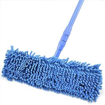 azul Size: 40cm x 12.5cm//15.7 x 4.9 De la cocina de la fregona de microfibra extensible Outdoortips de la fregona limpiador de piso de madera de vinilo de fideos Approx