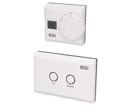 ESI - Energy Saving Innovation Controls ESRTERFW - Habitación Electrónico Inalámbrico Termostato Con Pantalla Lcd