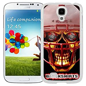 Hot Sale And Popular Samsung Galaxy S4 I9500 Case Designed With Ncaa Big Ten Conference Football Nebraska Cornhuskers 14 White Samsung Galaxy S4 Phone Case