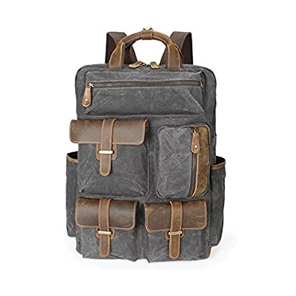 cd2f239de4e1 Amazon.com  1. Waxed Canvas Backpack   Backpack   Best Waxed Canvas ...