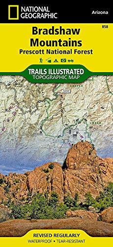 Bradshaw Mountains [Prescott National Forest] (National Geographic Trails Illustrated Map (858)) (Best Hiking Trails In Arizona)