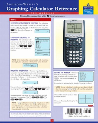 Graphing Calculator Reference Card