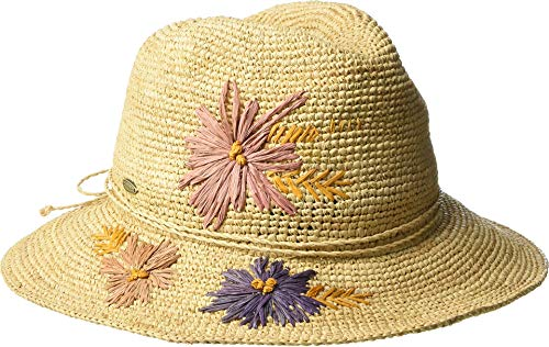 SCALA Women's Hand Crocheted Raffia Safari Natural One Size ()
