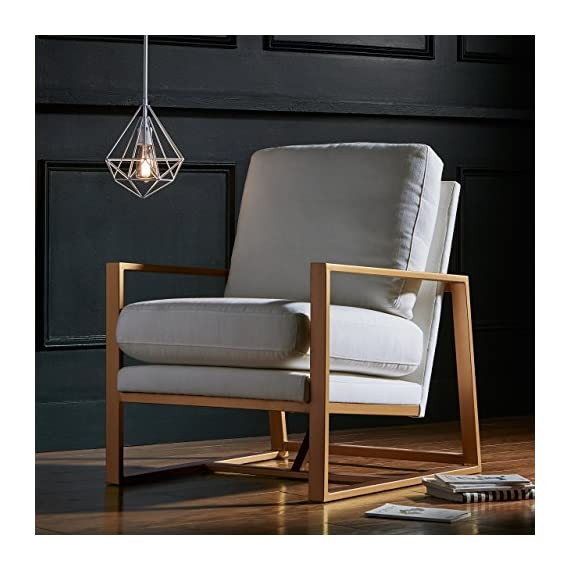 Sqaure Mid Century Modern Accent Chairs.Rivet Charlotte Mid Century Modern Upholstered Gold Accent Chair 29 W Natural