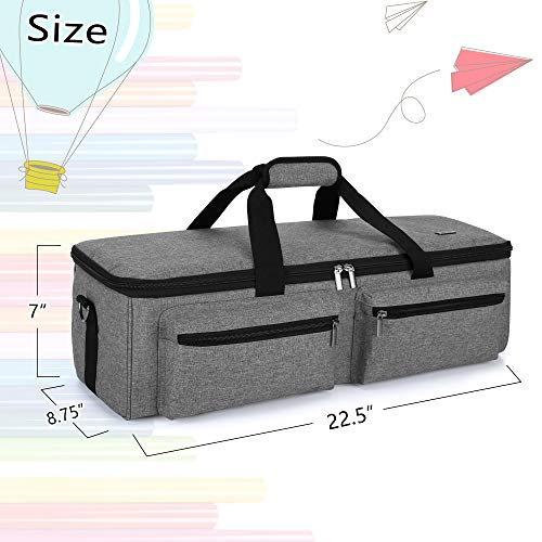 Luxja Carrying Bag Compatible with Cricut Explore Air and Maker, Tote Bag Compatible with Cricut Explore Air, Silhouette Cameo 4 and Supplies (Bag Only, Patent Pending), Gray