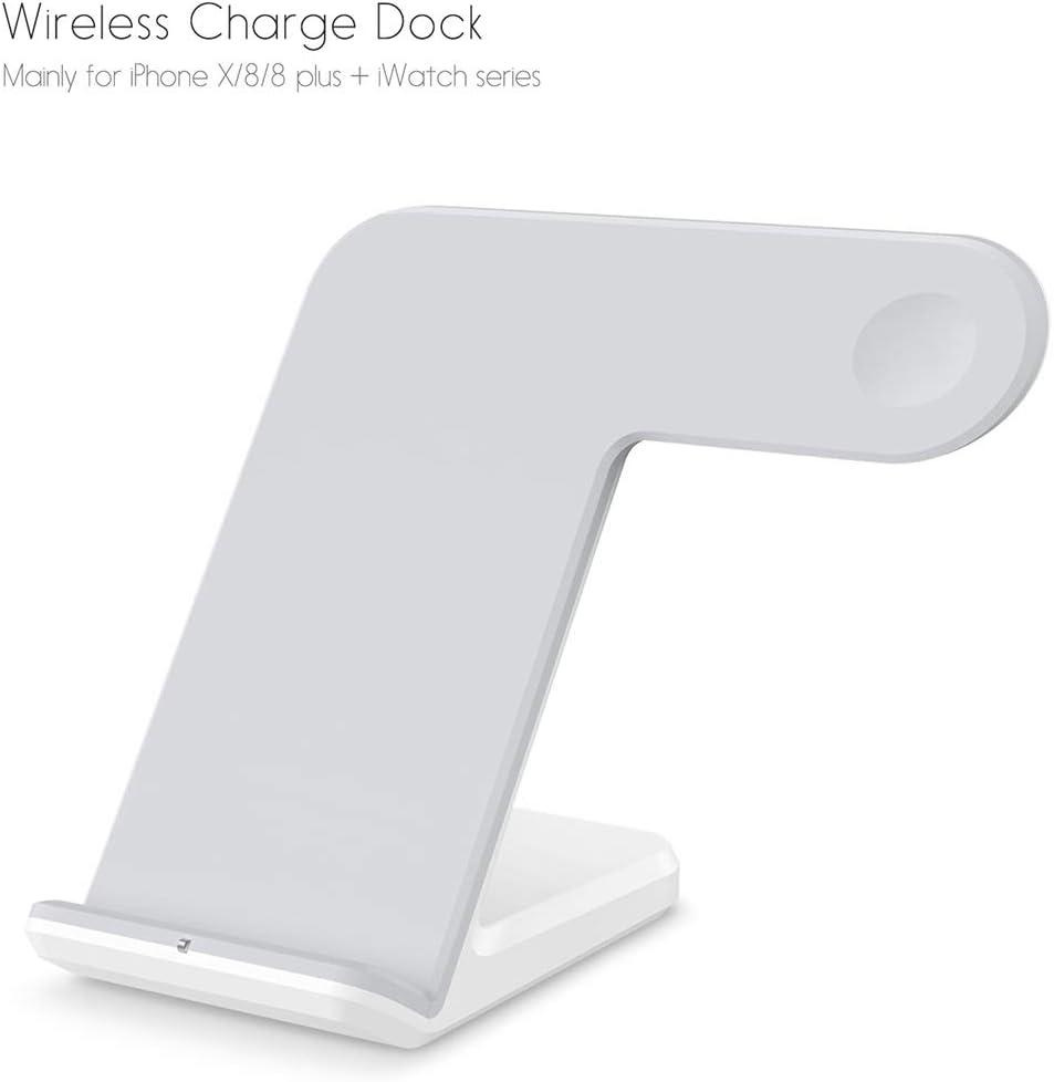 KSC AYS F11 verticale magnetische Draadloze oplader for QI opladen Standard Mobiele telefoons en Apple Watch Series (Zwart) (Color : White) White