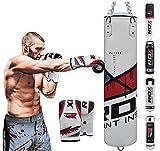 RDX Boxen MMA Sack 4FT 5FT Boxsack Set Kickboxen Sandsack Training Gefüllt Gewicht