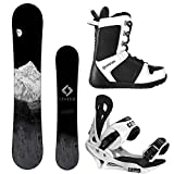 System MTN and Summit Complete Mens Snowboard Package (144 cm, Boot Size 8)