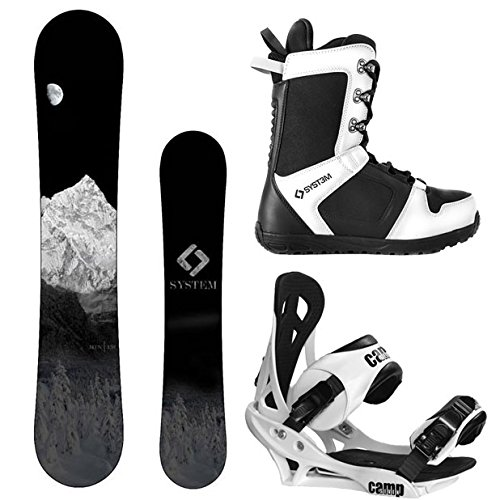 163cm Snowboard - System MTN and Summit Complete Mens Snowboard Package (163 cm Wide, Boot Size 11)