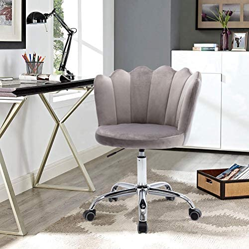 Velvet Office Chair,SSLine Upholstered Desk Chair - a good cheap living room chair