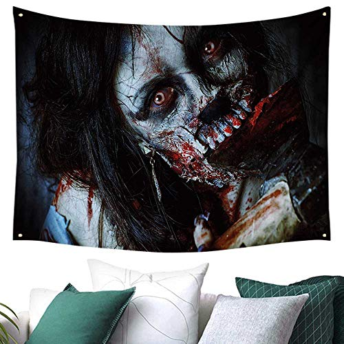 WilliamsDecor Zombie Decor Wall Tapestry Hanging Scary Dead