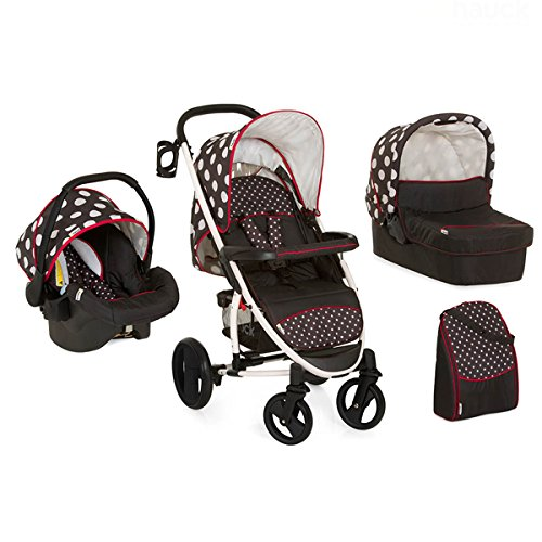 Hauck Malibu All in One - Cochecito de paseo, color dots black product image