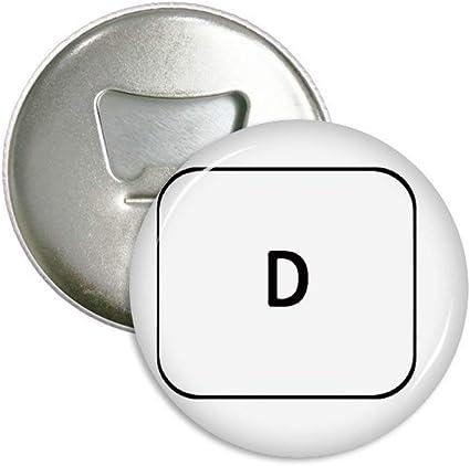 Teclado símbolo Windows D redondo abridor de botellas imán ...
