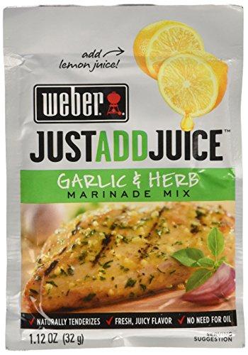 Weber Just Add Juice Garlic and Herb Marinade Mix 6 (Lemon Garlic Marinade)