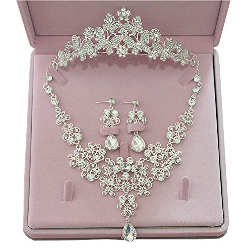 Suzhou Laidisi Tiaras and Earrings Crowns Wedding Sets Bride Hair accessories A by Suzhou Laidisi