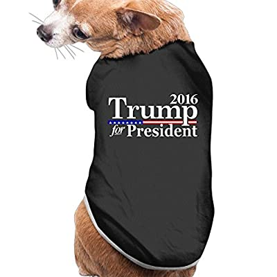 Candi Pets Clothes Trum Make America Great Tshirt Tees Dog Vintage Casual Black