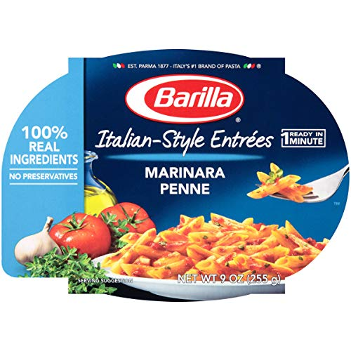 Barilla Mezze Penne with Traditional Marinara Sauce, 9 Ounce -- 6 per - Pasta Easy