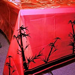 "Fun Express - Chinese New Year Tablecover, 54"" x 108"", Plastic"