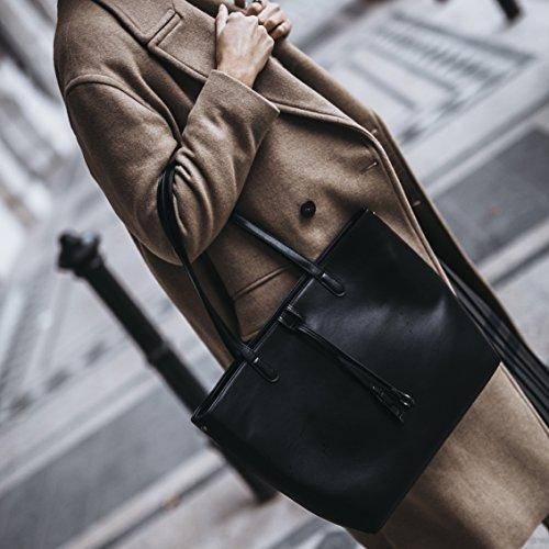 Bandolera Mujer Hombro En Bag Mano Bolso De Shopper Negro Lara Tragwert AwFUqfzA