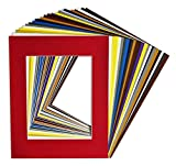 picture frame mat 16 x 20 - Golden State Art, Pack of 25, Acid-Free Mixed Colors Pre-Cut 16x20 Picture Mat for 11x14 Photo with White Core Bevel Cut Frame Mattes